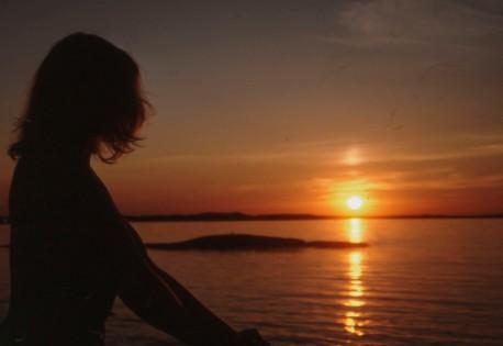 solnedgång över Bohuslän